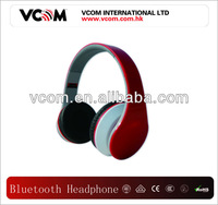 2013 VCOM hot selling mobile phone use Red bluetooth headphone
