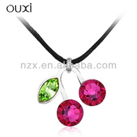 ouxi latest multiple crystal football pendant necklace made with Austria crystal 10373