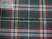 Yarn-dyed Fire Retardant checked Fabric Coated PU For Suitcase