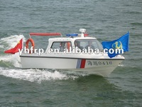 fiberglass military small work boat for sea patrol