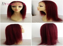 New arrive 100 hot straight Doll virgin remy hair malaysian human lace front Wigs for sale