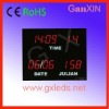 contemporary high quality red clear led calendar wall clock