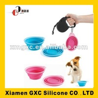 FDA silicone pet bowl for travel