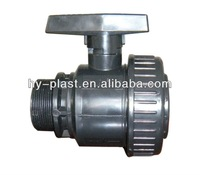 "pvc single union ball valve 1 1/4"" external thread"