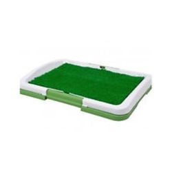 Indoor Puppy Training Pad Pee Potty Grass Patio Mat Tray Drain Clean Dog Pet