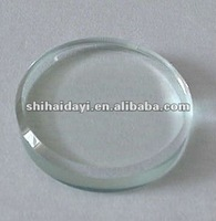 10mm round clear tempered glass