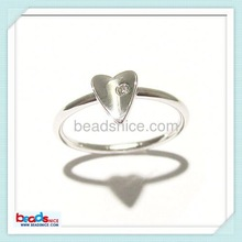 Beadsnice ID 26777 Sterling Silver Bezel One CZ Accent Over The Midi Tip Top of Finger Above ring knuckle Ring