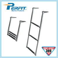 2/3/4 steps telescoping stainless steel boat ladder