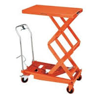 Hydraulic mobile folding arm lift table
