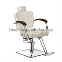 2015 Used white color hair salon recline barber chair with wood armrest/Durable Portable salon barber chairs