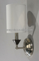 2015 Modern Silver & White Fabric Lamp Shade Wall Light E27 Capsule Bulb