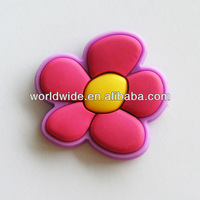 flower shape cheap custom 3D PVC fridge magnet
