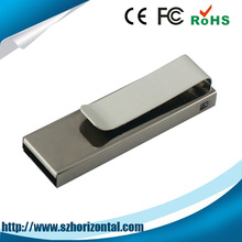 New products 2014 metal clip usb memory stick 8GB, 16GB, 32GB laser engraving shenzhen usb memory