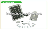 3W solar panel light with lithium battery USB