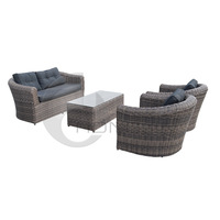 Patio Rattan Furniture Sofa Sets/ Outdoor Wicker Sofa Sets