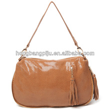 stylish fashion designer genuine leather handbag