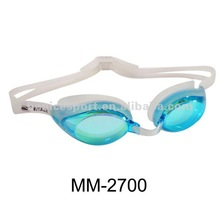 Adults' one piece silicone swimming goggle with quick strap adjustment system ,sporty goggles(MM-2700)