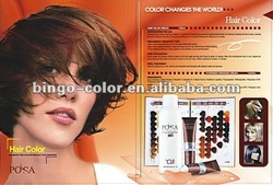 Professional 78 kinds of hair color chart with bes quality color shade,sample free