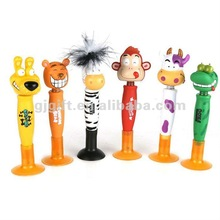 2015 promotional custom cute animal top ballpoint pen