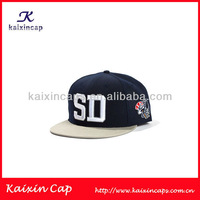 imitation acrylic fabric microphone embroidery at side black and white snapback hat sport cap for souvenir