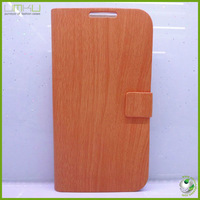 Bamboo grain design leather cell phone Case For Samsung galaxy S4 i9500 case cover