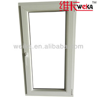double glazing PVC office interior plastic window price