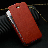 factory price for iphone4 case, for iphone 4 cover, leather flip open case for iphone 4/4s