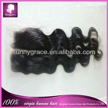 100% brazilian virgin hair closures with swiss lace and baby hair 5x5
