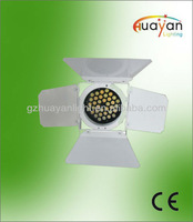 High Quality 1W*36 white&warm white LED Par can LED Stage Light with barn door For DJ KTV Show Club party