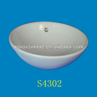 Fancy composite acrylic resin wash basin artificial stone round bowl wash basin