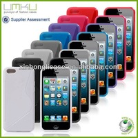 S line matte skidproof cover case for iphone 5c tpu cases