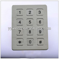 12 keys silicone numeric keypad ic for blackberry