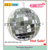 Beautiful glitter styrofoam christmas balls decoration with diameter 5cm reflective material for trees