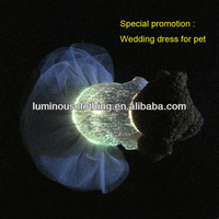 Attractive wedding dress for pet luminous dog clothes led dog products