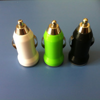 Colorful mini mobile phone car charger,mini usb charger for iphone/samsung