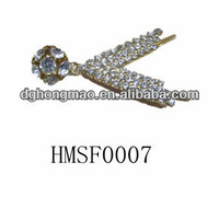 Metal chain shoe flower for ladies shoes