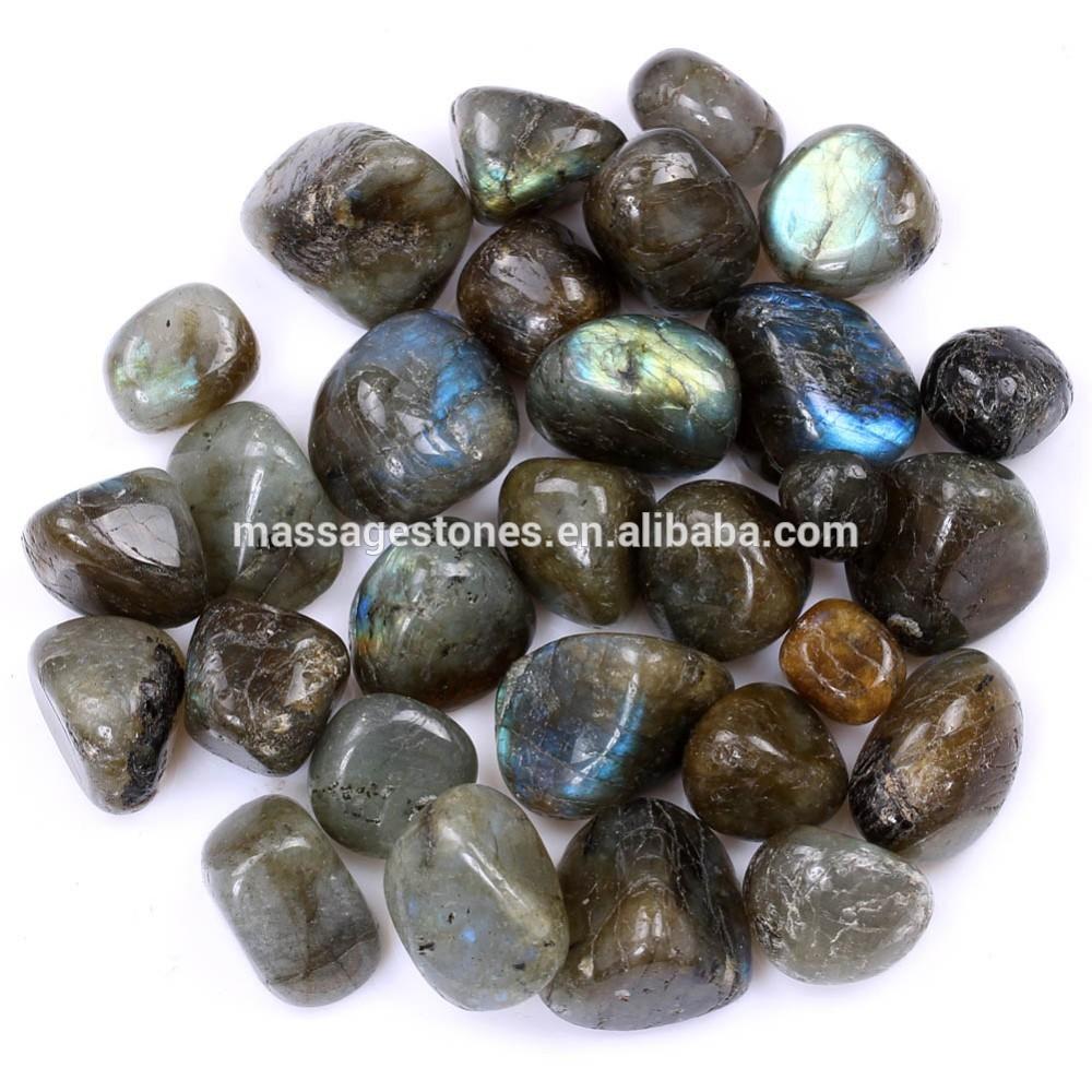 wholesale gemstone tumble stones labradorite tumbled