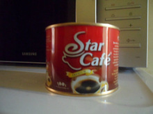 100g instant star cafe coffee powder at 4.29USD FOT kampala