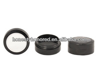 New Empty Round Black Loose Compact Powder Case For Face Makeup Packaging