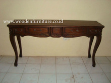 Teak Console Table Antique Reproduction Table American Style Furniture Classic Console Table European Style Home Furniture
