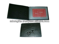 ADACDH - 0002 black leather car document holders / bus truck insurance document holders / insurance document holders