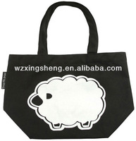 Promotion small cute sheep canvas bag tote shopping with high quality wholesale