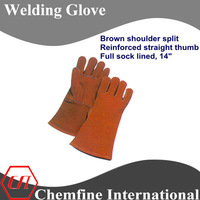 long cuff welding or solderer glove for duty work