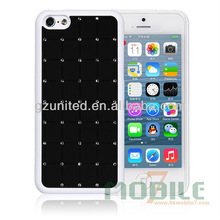 cheap hot sale new product rhinestone mobile Phone Case Decoration cell phone accessory for iphone 5C black