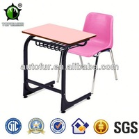 Wholesale Price Wooden Old School Desk and Chair