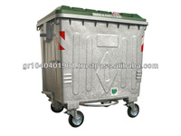 GALVANIZED METAL BIN WITH PLASTIC LID GM 770LT CE EN840