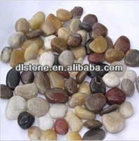 Competitve price Mixed Color Flat Pebble River Stone
