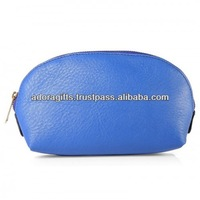 Cosmetic bag design made in india / stylish make up bag for travel / zipper make up bag & case