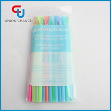 Flourescent Spoon-Shaped Straw Colorful Straw PP Plastic Straw