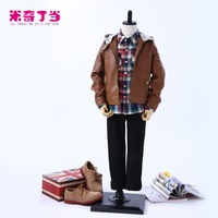 2014 Autumn Latest Design Kids Clothing Manufacturer Baby Boys Leather Jacket